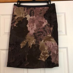 LOFT Abstract Floral Pencil Skirt - 4